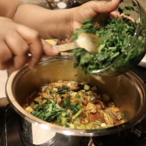 Eating Healthy – Okra Stew & Yam Flour