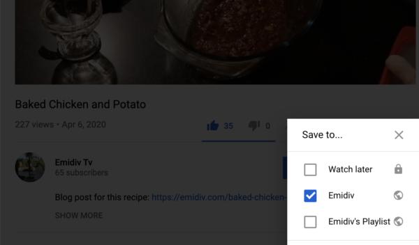 Create a Youtube Playlist